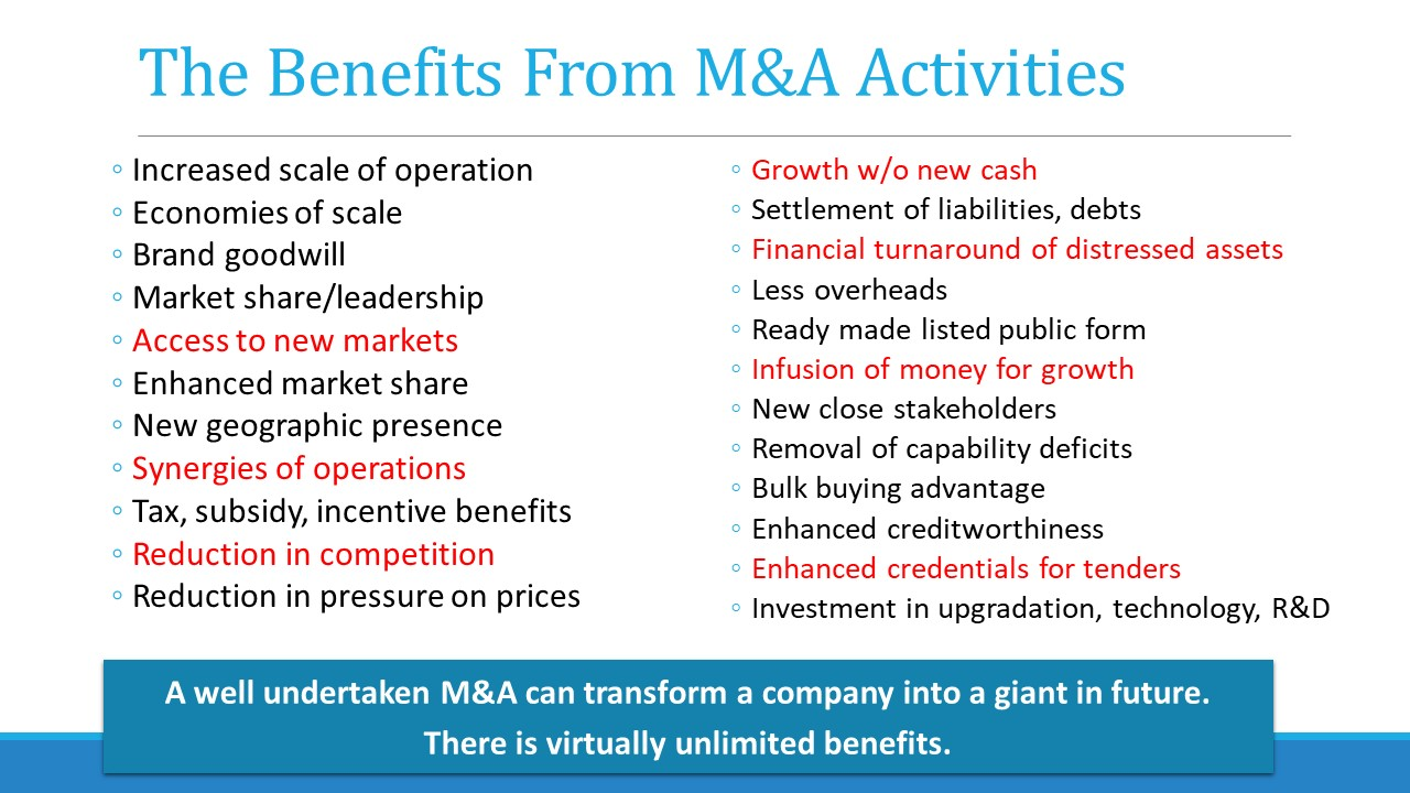 Benefits of equity funding mergers and acquisitions