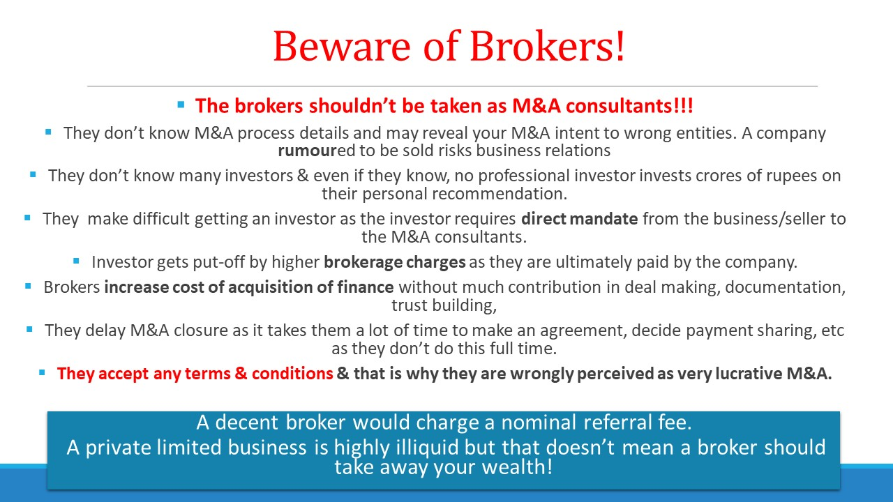 How to engage brokers in M&A deals?