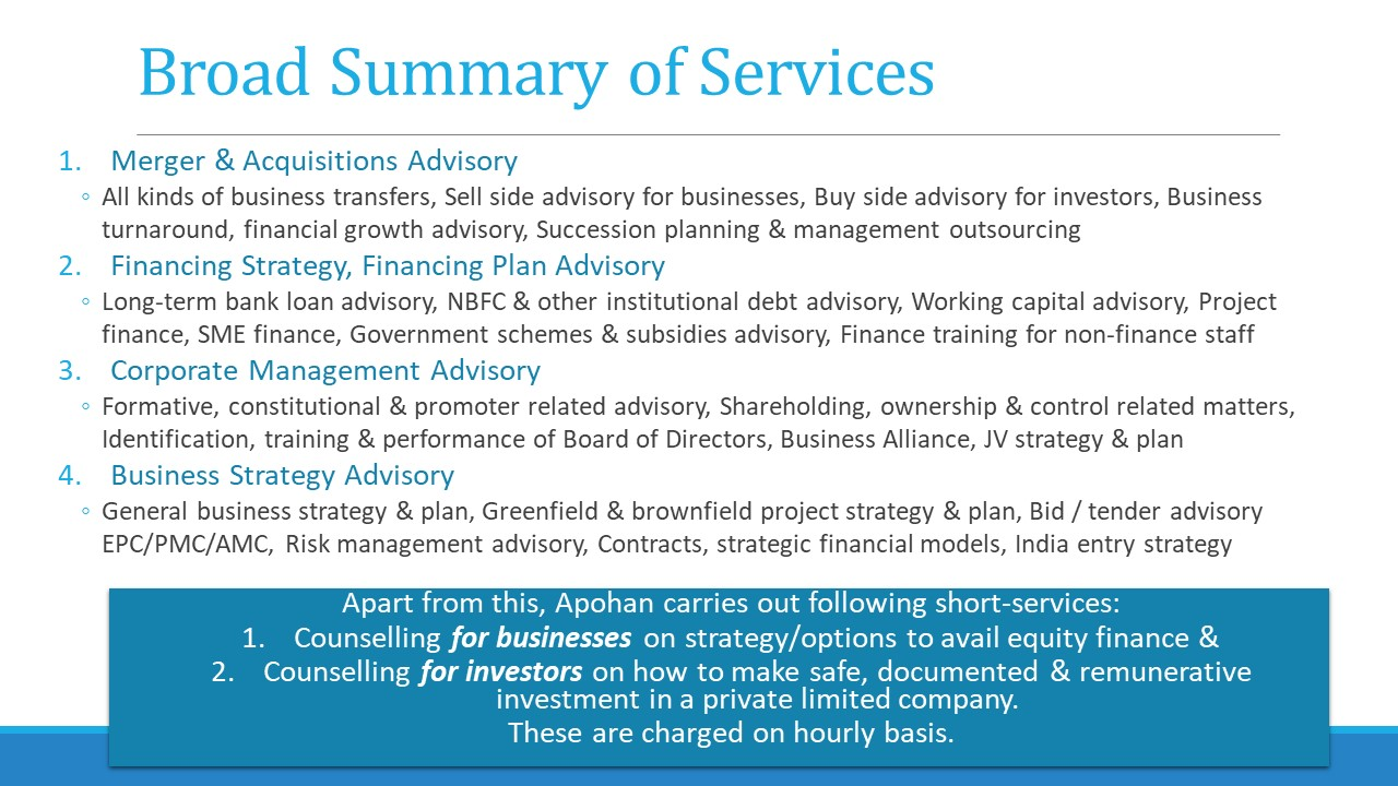Merger Acquisition equity funding transaction advisory business strategy