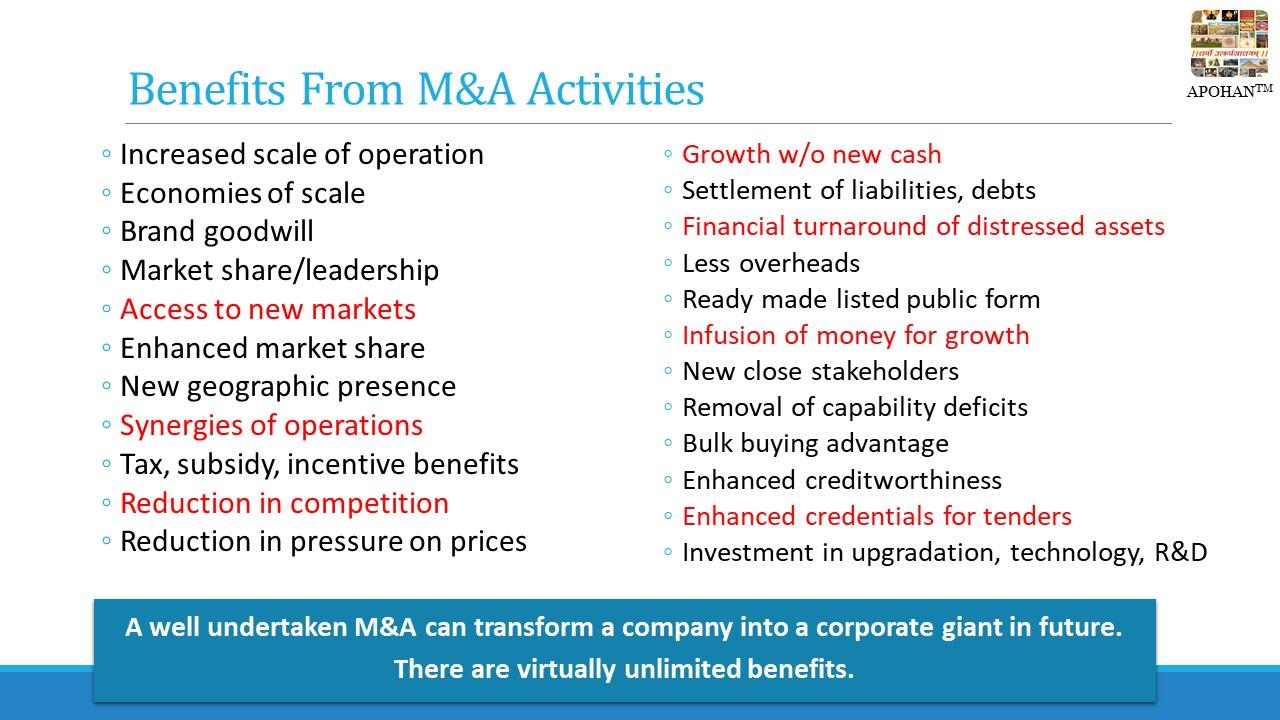 Advantages of strategic transactions mergers acquisitions alliances